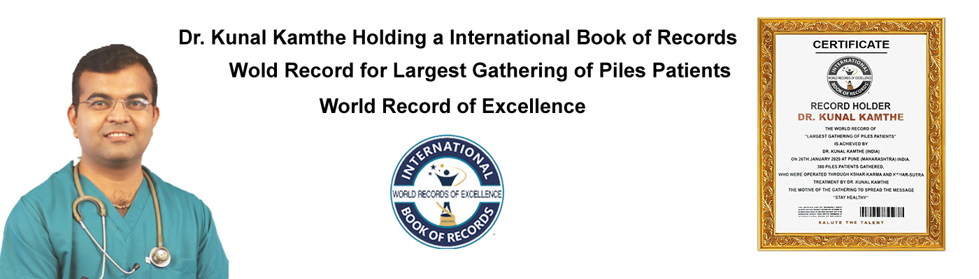 Dr. Kunal Kamthe Holding a International Book of Records